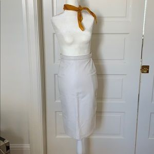 Dresses & Skirts - Vintage white leather pencil skirt